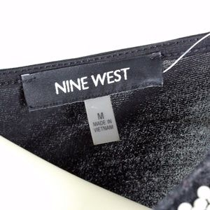 Nine West Tops - Nine West • Black Beaded Sleeveless Tank Top